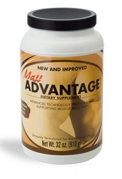 מס אדוונטאג' (Mass Advantage) -  תוסף תזונה על בסיס חלבון, אידיאלי לספורטיבים שבינינו, מספק לגוף את אבות המזון הדרושים לבניית מסת שריר ולכן אידאלי לתרגול גופני.